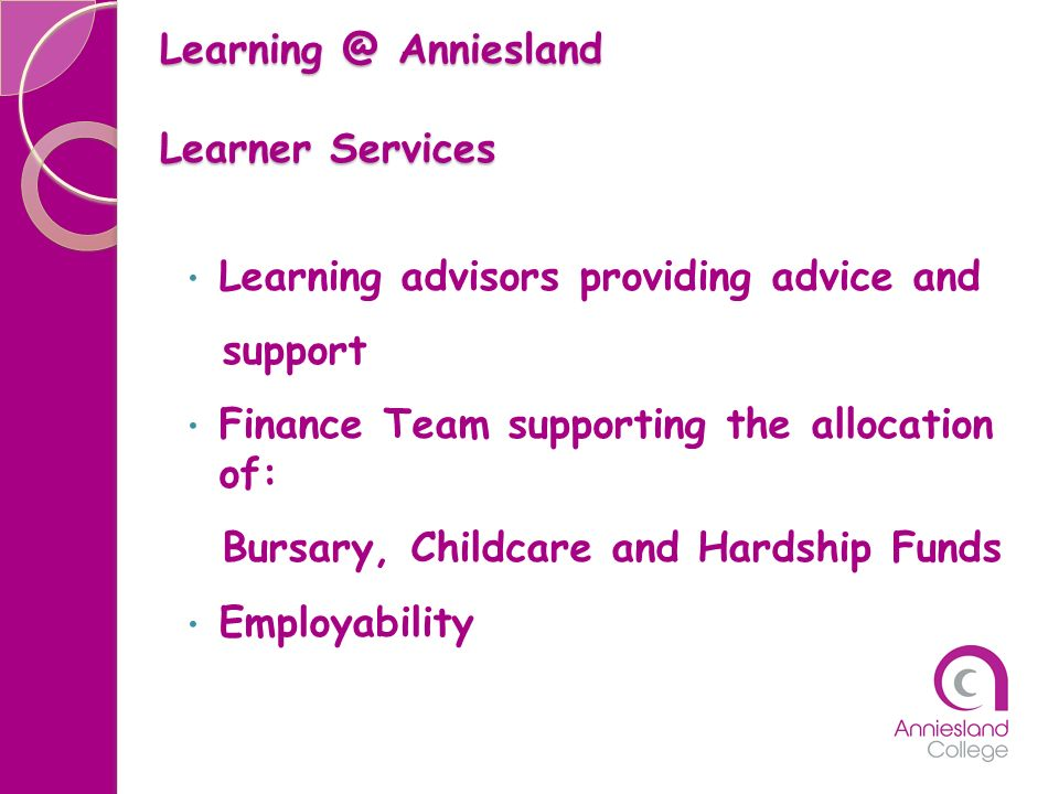 Learning @ Anniesland Learner Services