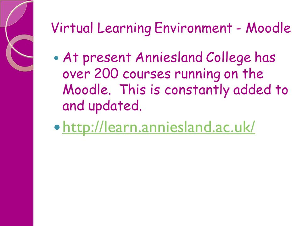 Virtual Learning Environment - Moodle