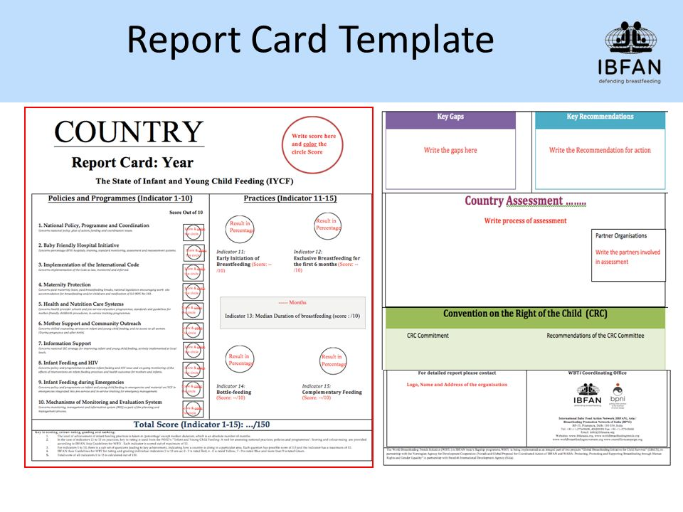 Preparing the Country Report and Report Cards - ppt video online ...