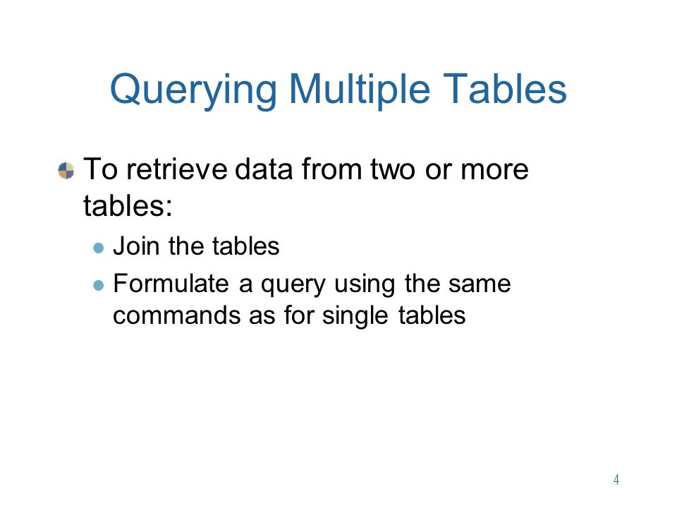 Chapter 4 Multiple Table Queries Ppt Video Online Download