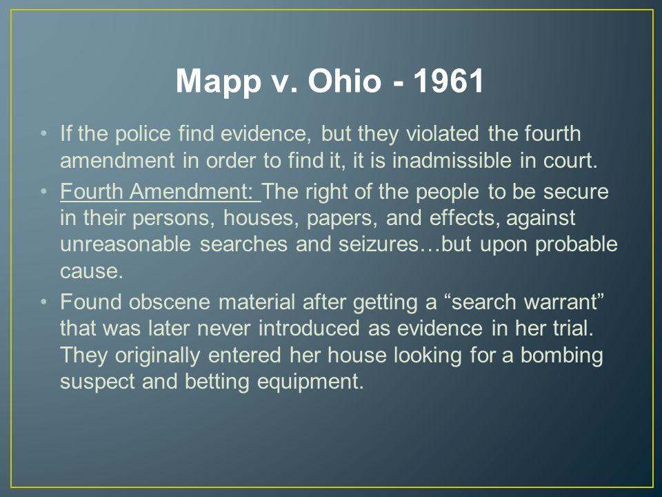 mapp v ohio court case