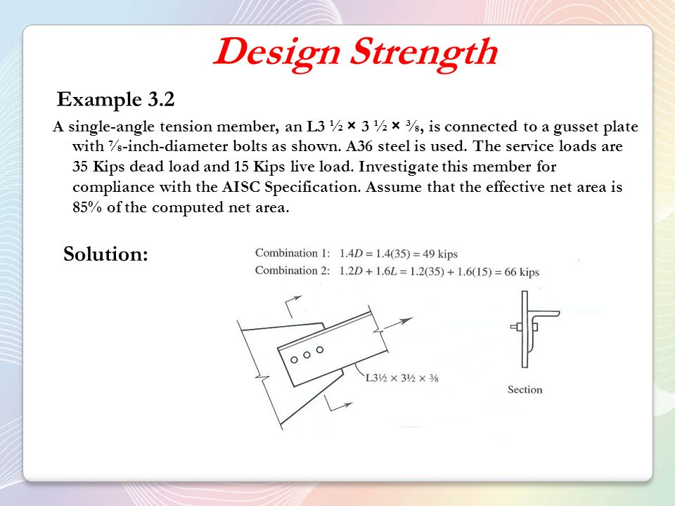 Tension members design solved example | design of steel structures.