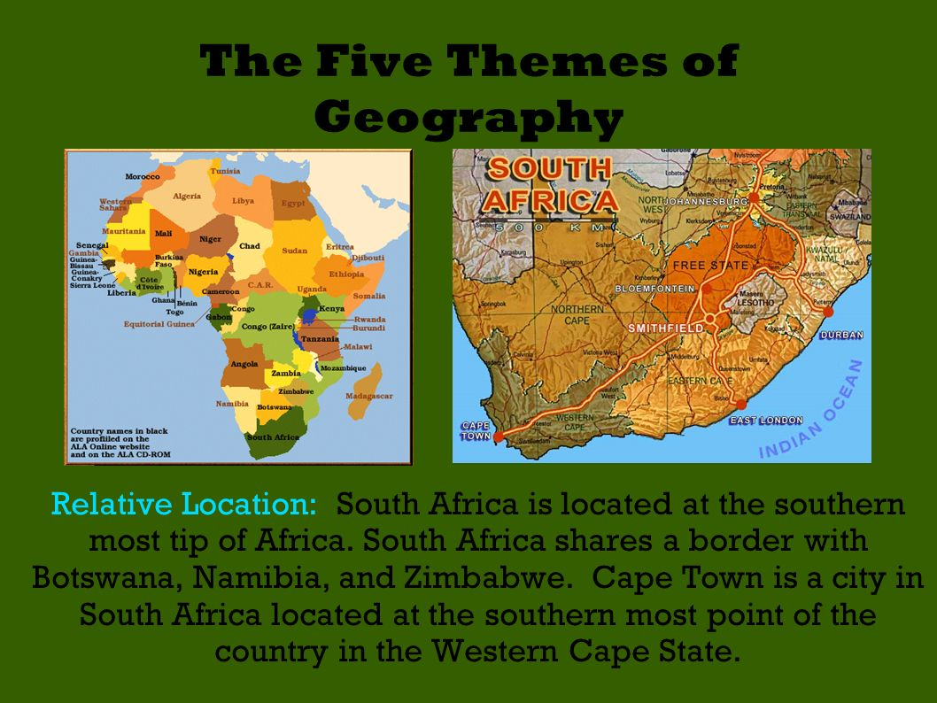 the five themes of geography in Most importantly, this article provided the five fundamental themes in geography, which have evolved to become an integral element of social studies education, because they take the world of geographic study beyond the realm of basic memorization.