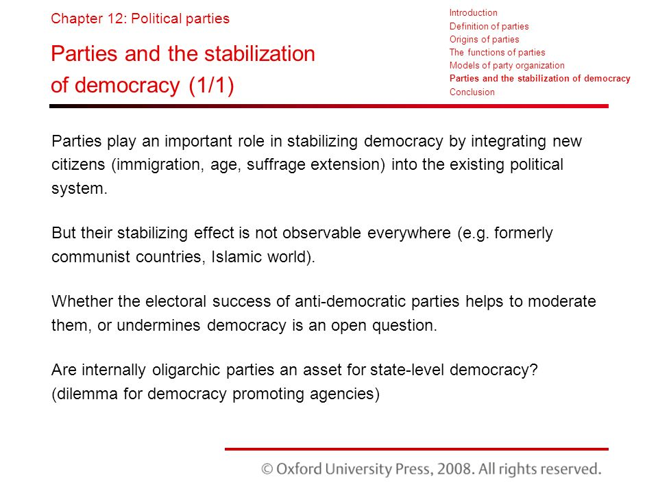why are political parties important in a democracy