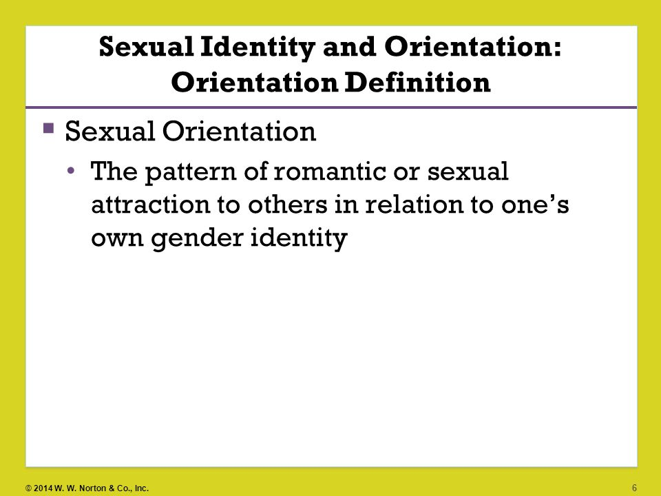Definition sexual identity