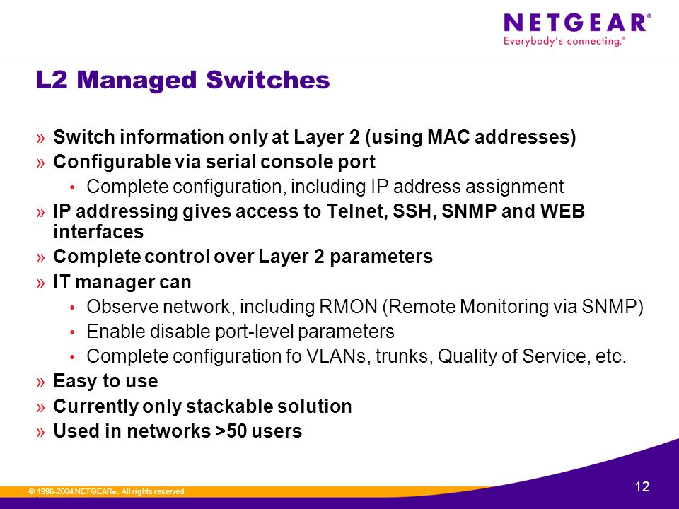 ProSafe Layer 3 Switching - ppt download