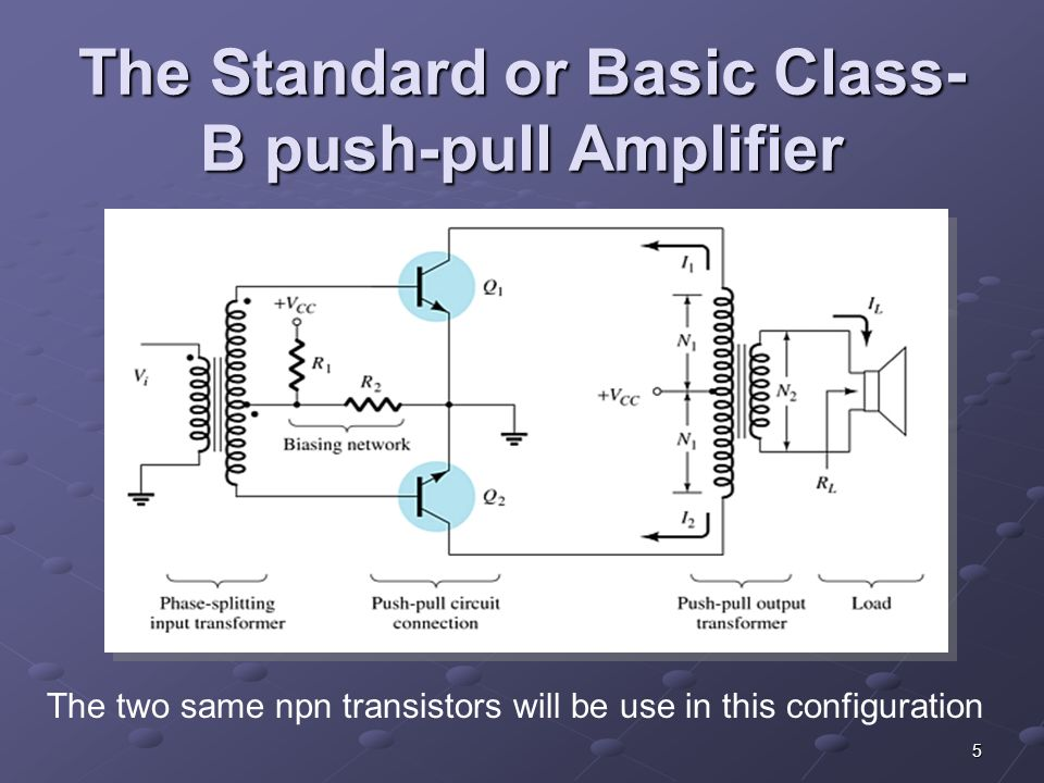Push Pull Amplifier Circuit Diagram | Lecture 16 17 Complementary Symmetry Push Pull Amplifiers Ppt