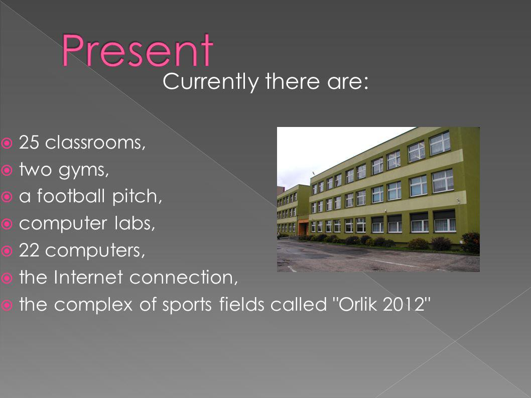 Present Currently there are: 25 classrooms, two gyms,