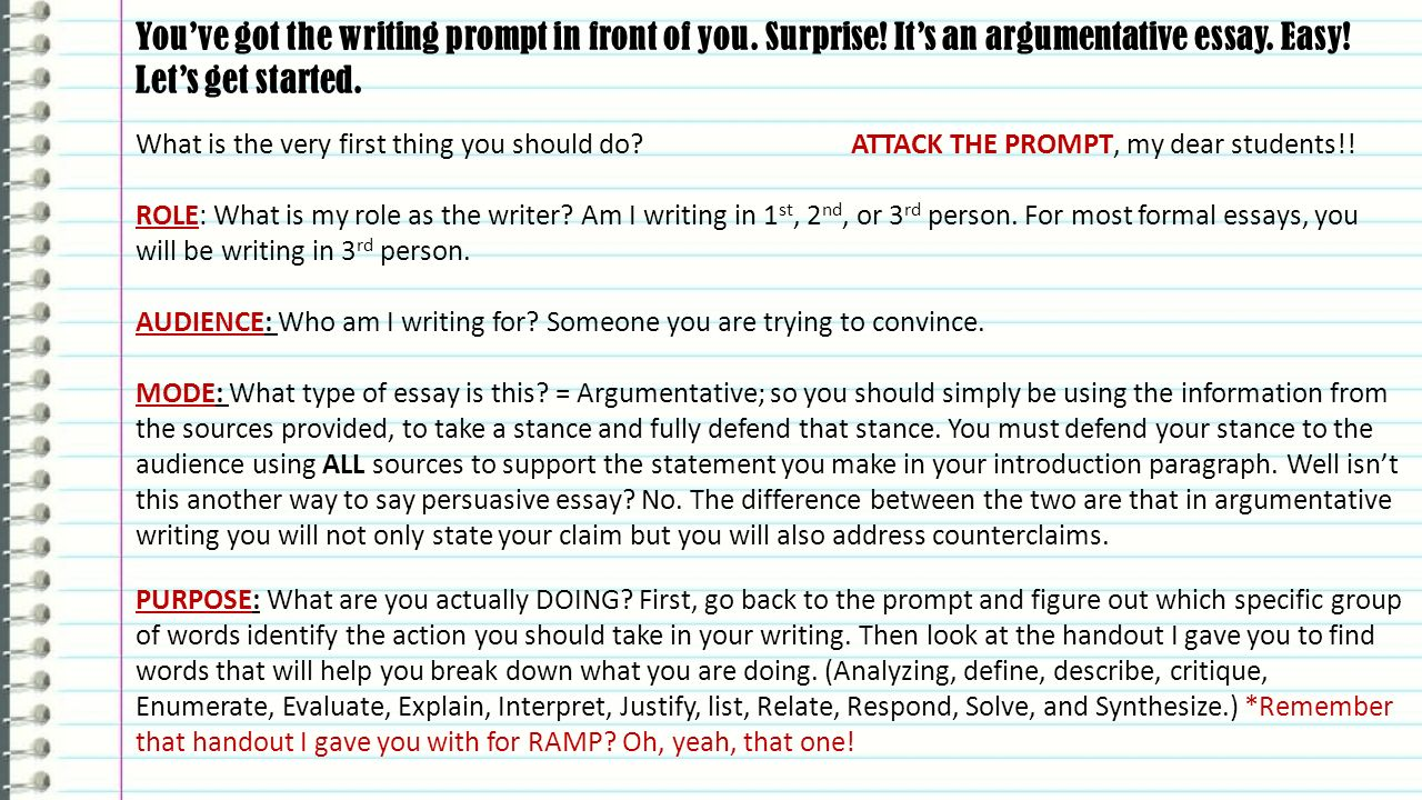 writing argument essays