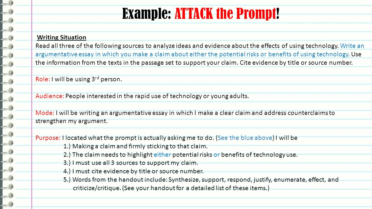 Example Essay Papers  Example  Modern Science Essay also Examples Of Thesis Statements For English Essays Fsa Writing Argumentative Essays English Language Arts  Ppt Video  High School Essay Writing