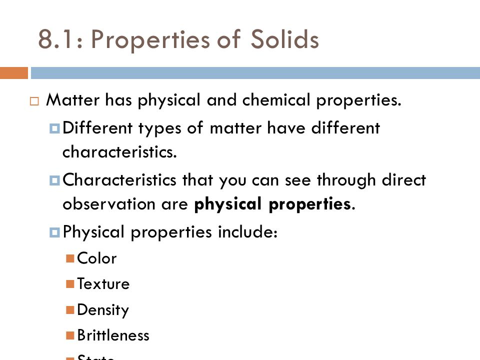 81 Properties Of Solids Matter Has Physical And Chemical