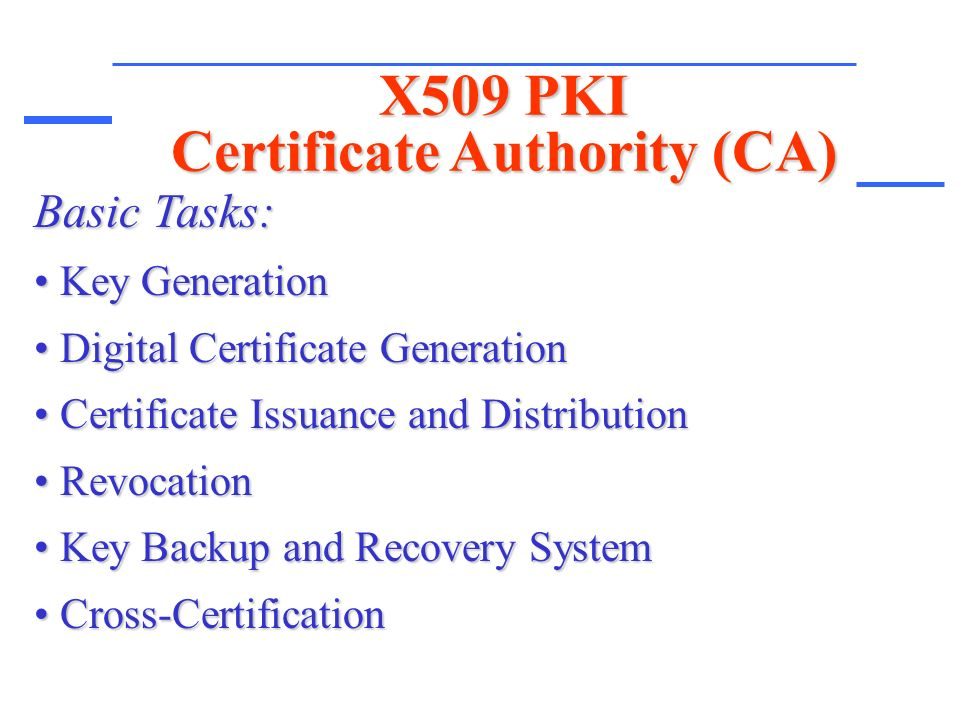 Public Key Infrastructure X509 Pki Presented By Ali Fanian Ppt