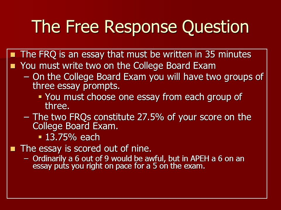 Business Management Essays  The Free Response Question Essay Of Newspaper also Business Law Essay Questions The Ap European History Free Response Question  Ppt Download Essay With Thesis Statement Example