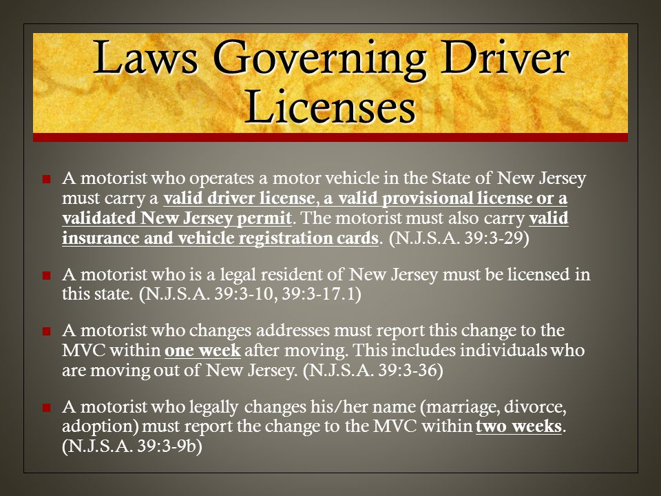 Chapter 1 nj driver's license system ppt video online download.