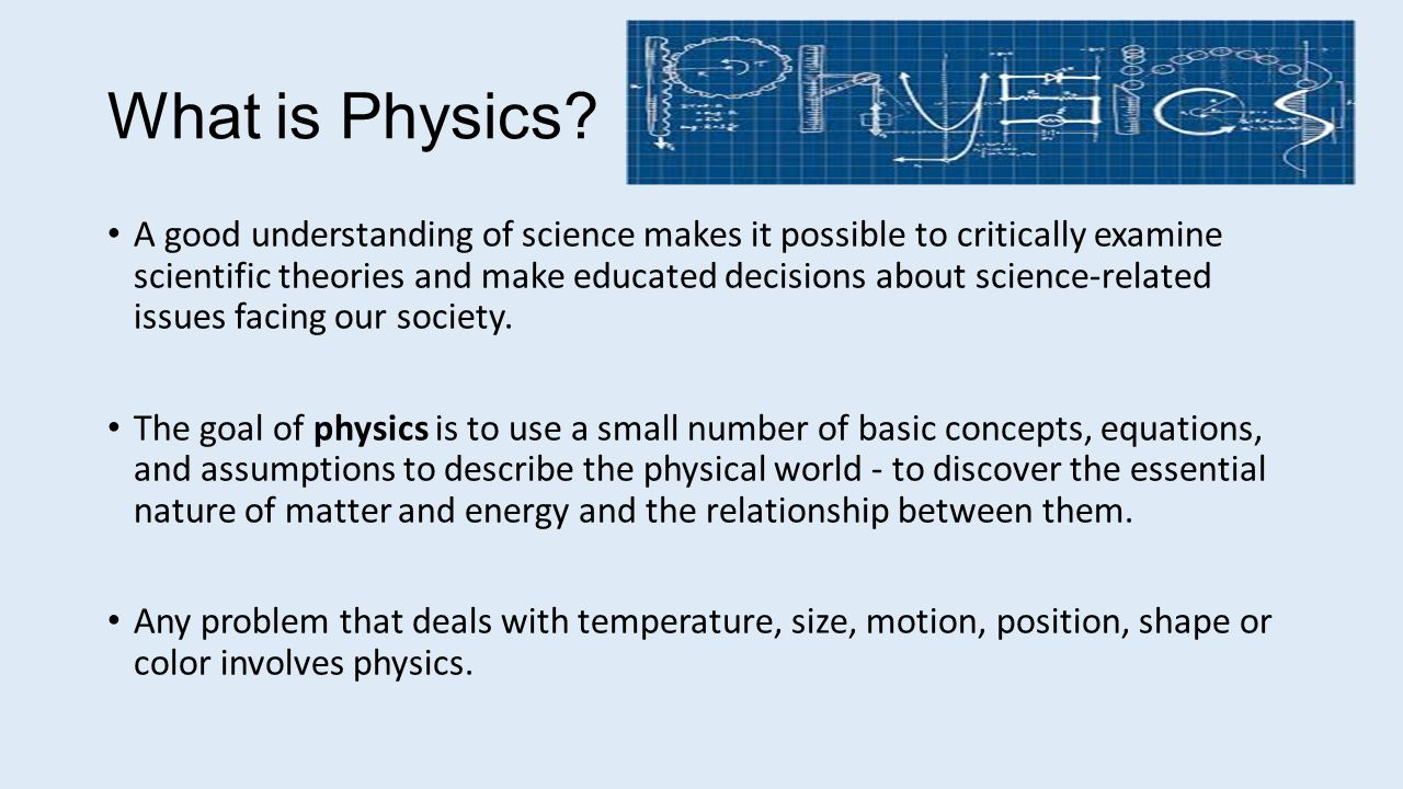 What is physics? 59