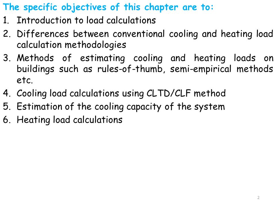 Cooling And Heating Load Calculations - ppt download