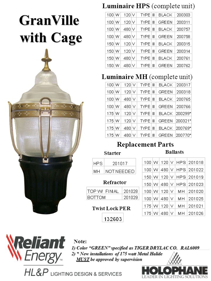 granville luminaire hps complete unit luminaire mh complete unit rh slideplayer com