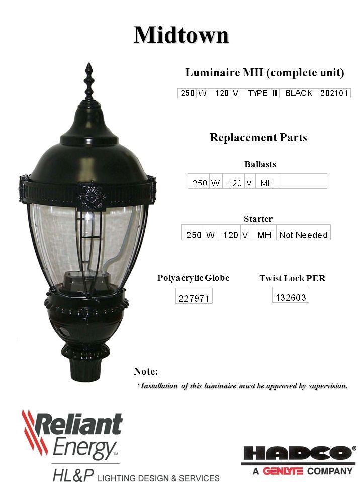 Granville Luminaire Hps Complete Unit Mh
