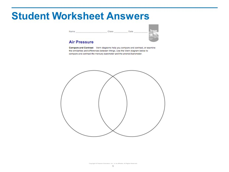 Air Pressure Read The Lesson Title Aloud To Students Ppt Video. Student Worksheet Answers. Worksheet. Air Pressure Worksheet At Clickcart.co