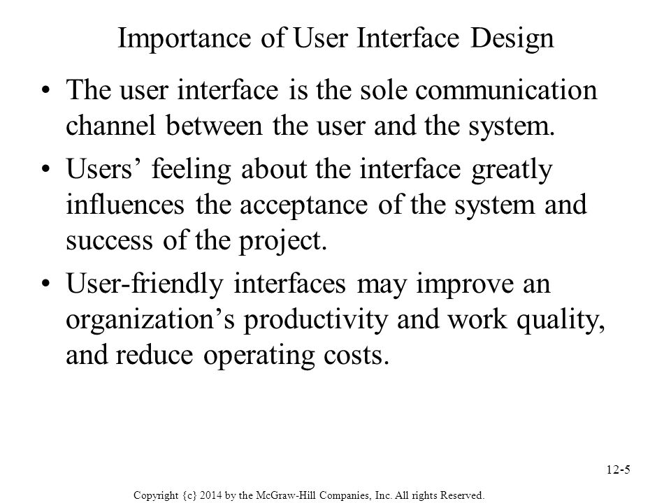 Chapter 12 User Interface Design Ppt Video Online Download