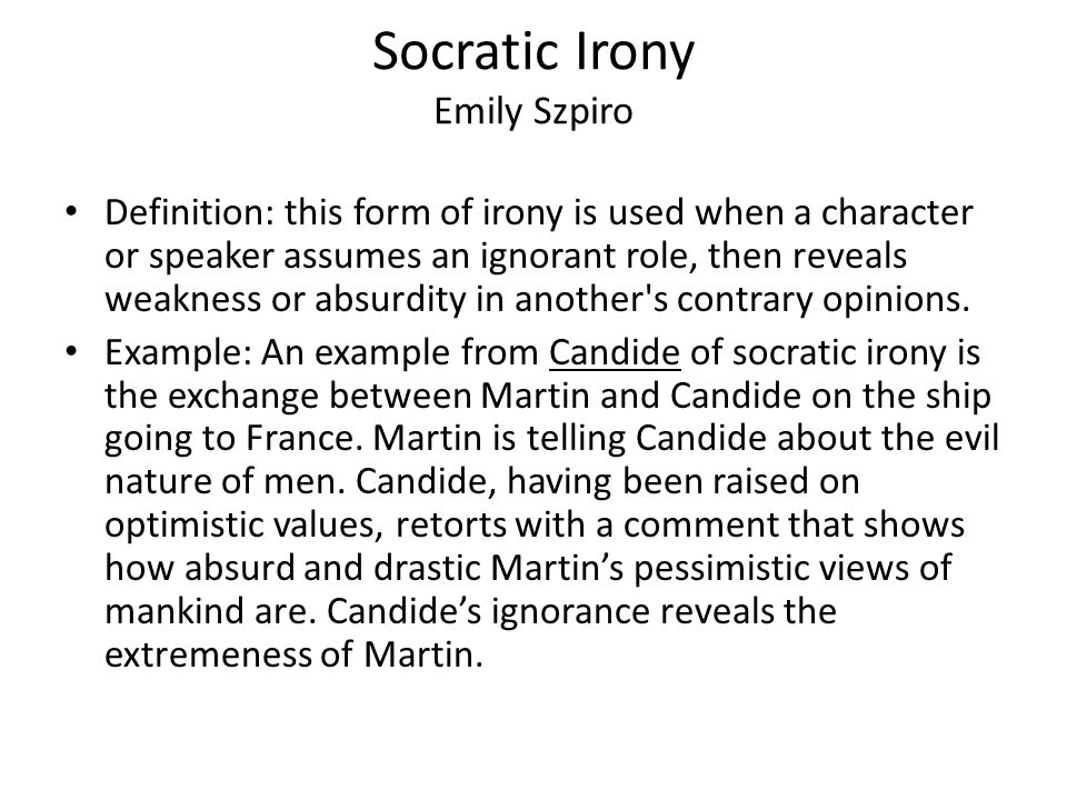 Terms Of Humor Satire And Irony In Candide Ppt Video Online Download