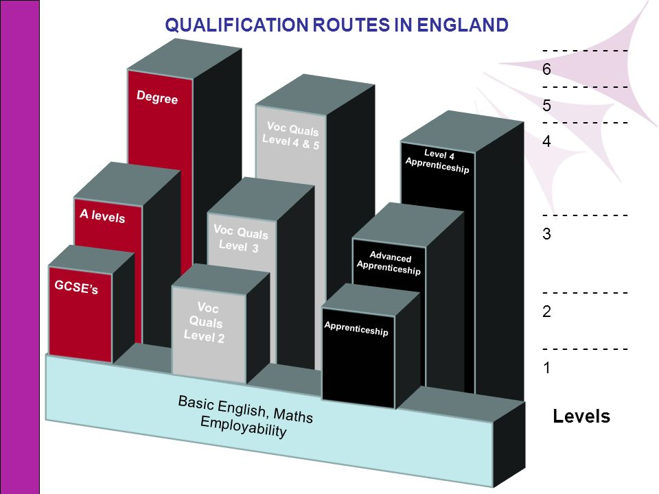 QUALIFICATION ROUTES IN ENGLAND Advanced Apprenticeship