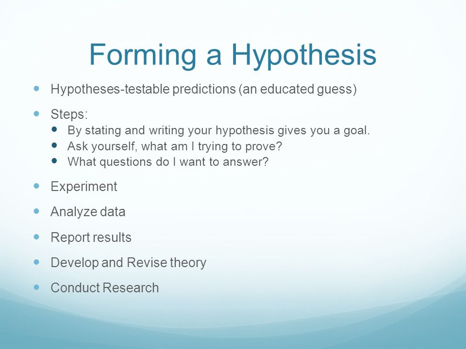 How to Create a Hypothesis