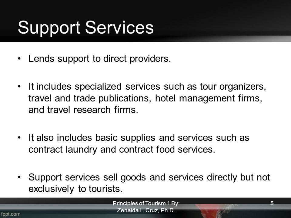 Tourism Network and Supply Components - ppt video online