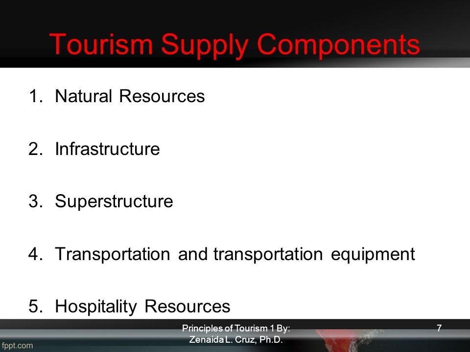 tourism supply chain