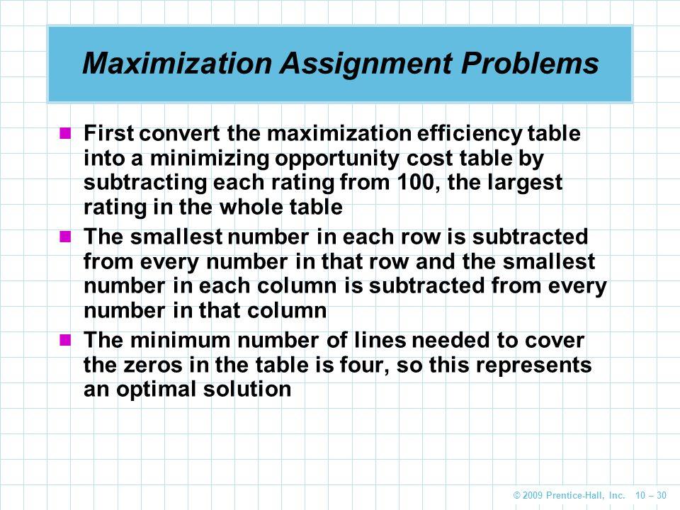 assignment problem solution