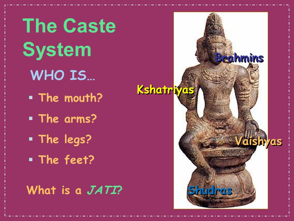 India Goals: How did the caste system develop in India? How