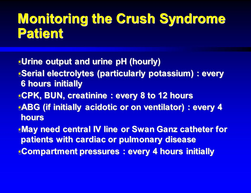 Crush Injury And Crush Syndrome Ppt Video Online Download