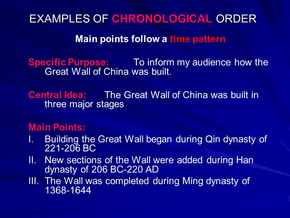 chronological essay ppt Pbworks lets your team capture knowledge, share chronological order essay ppt files, and manage projects in this exemplification essay, you will employ a little narrative writing in your introductory paragraph of the exemplification essay by composing a brief anecdote as.