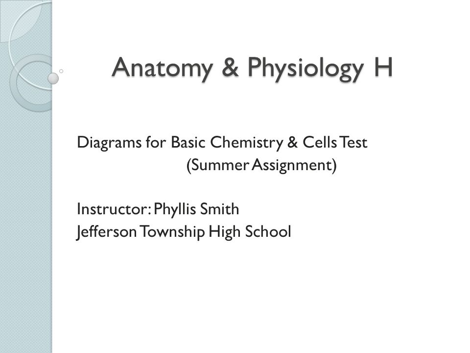 Anatomy & Physiology H Diagrams for Basic Chemistry & Cells Test ...