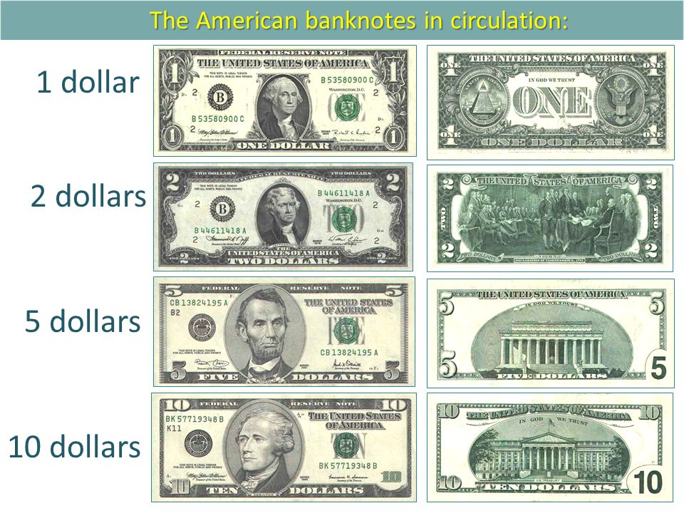 The American Banknotes In Circulation