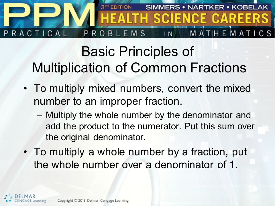 Basic Principles of Multiplication of Common Fractions