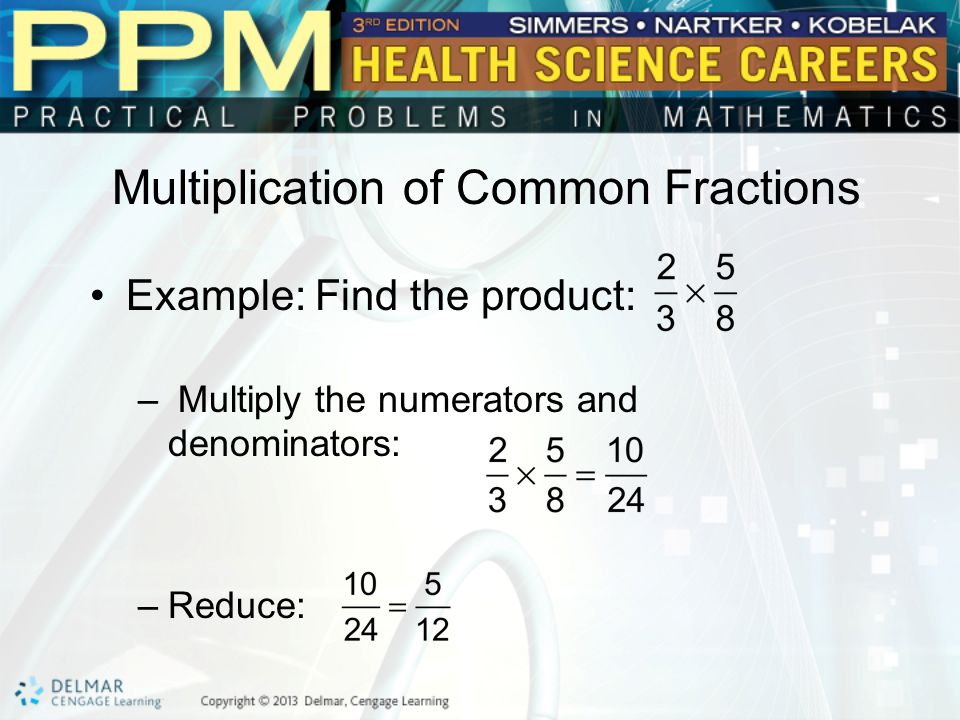 Multiplication of Common Fractions
