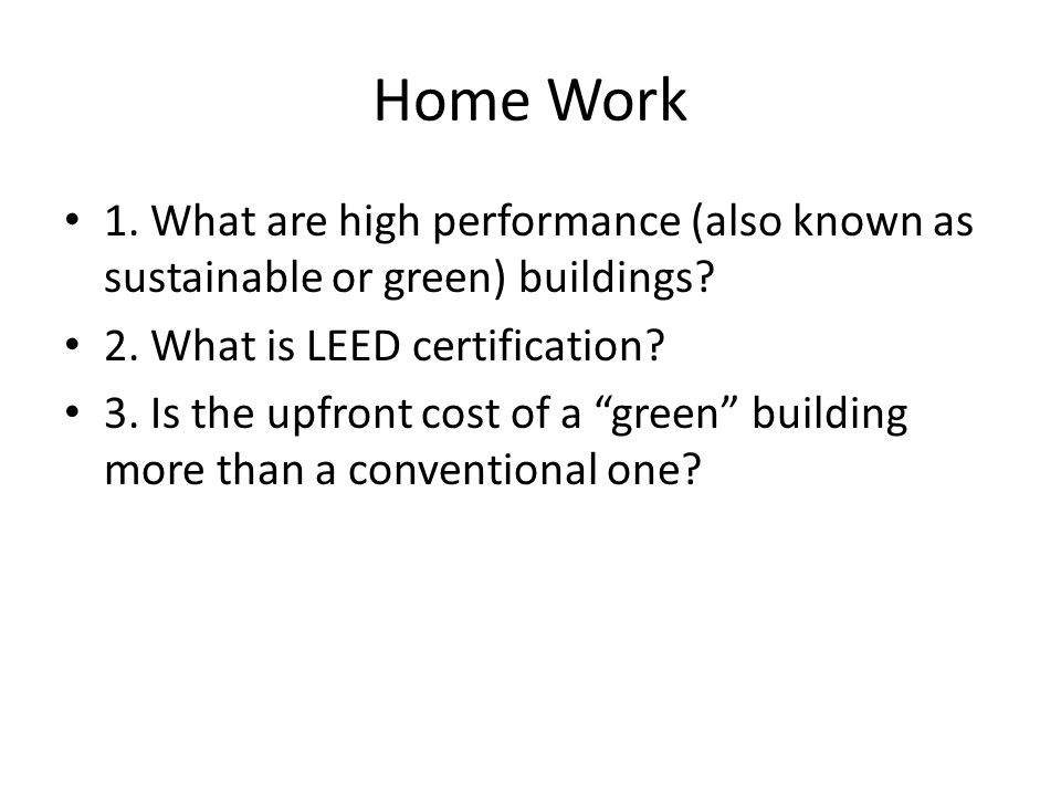 Sustainable Building And Housing Ppt Download