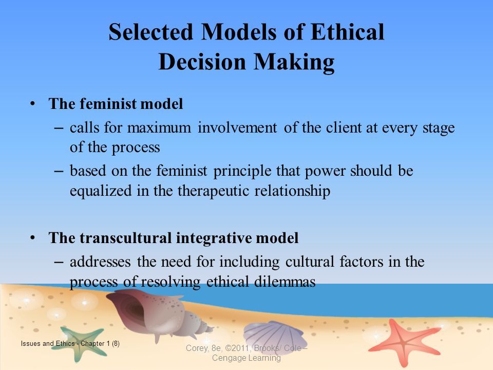 ethical decision making model corey