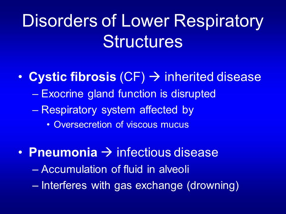Disorders of Lower Respiratory Structures