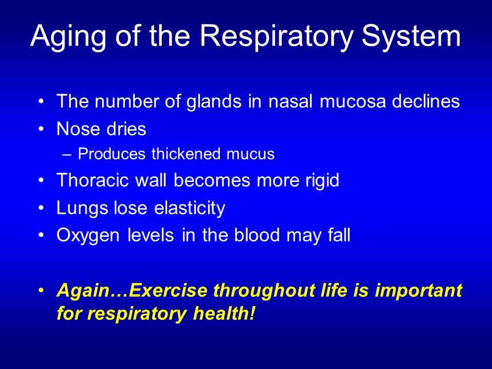 Aging of the Respiratory System