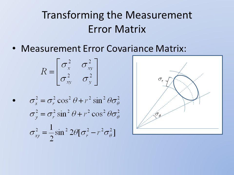 Random Track Error Covariance