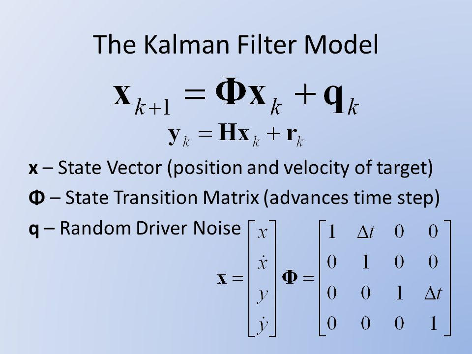 Applications of the Kalman Filter to Radar Target Tracking