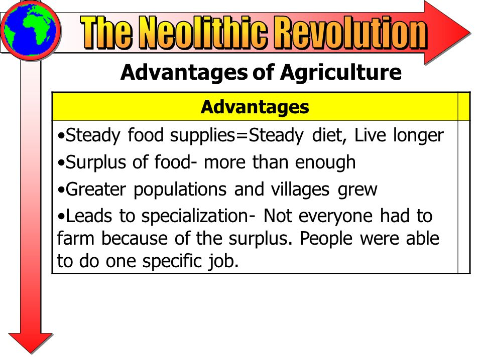 advantages of agriculture