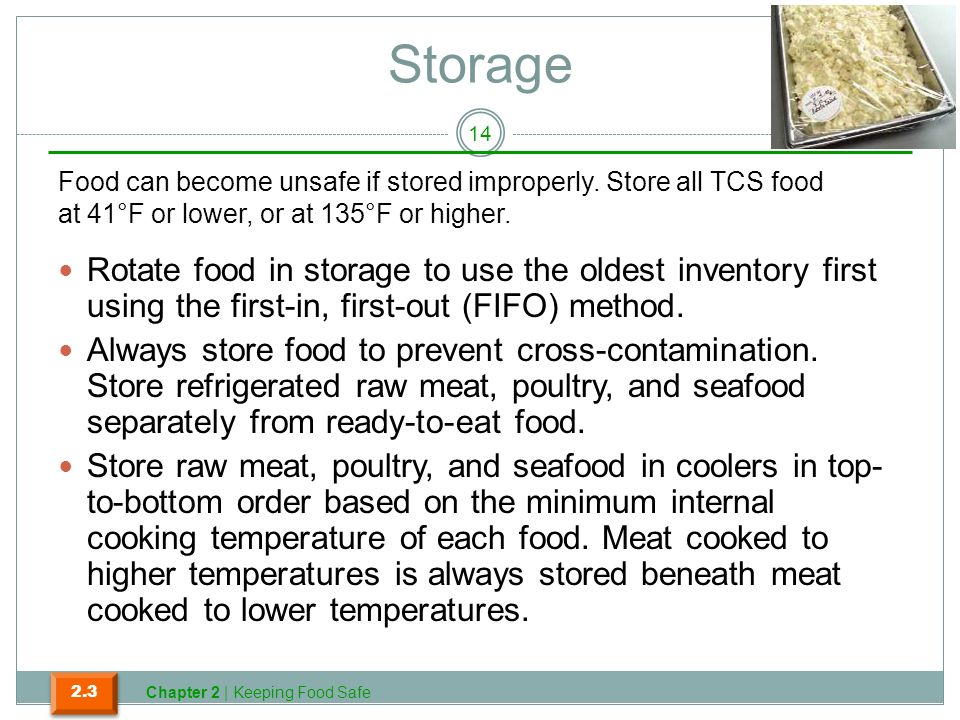 Which Storage Method May Cause Tcs Food To Become Unsafe Simple Preventing Hazards That Occur In The Flow Of Food Ppt Download