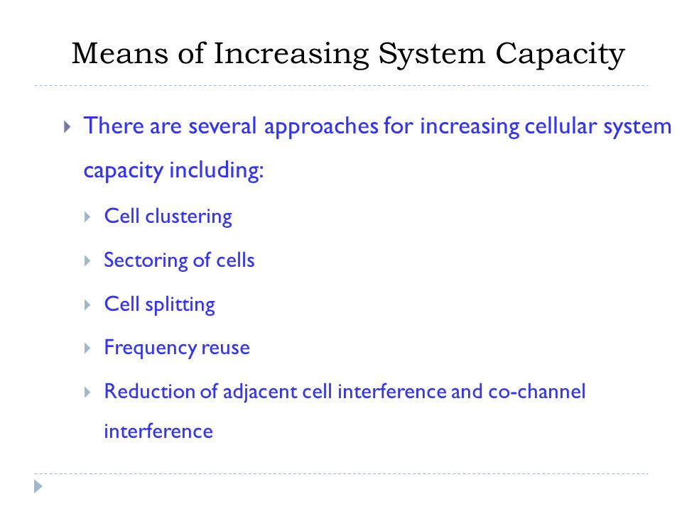 Improving coverage and capacity in cellular systems the web's.