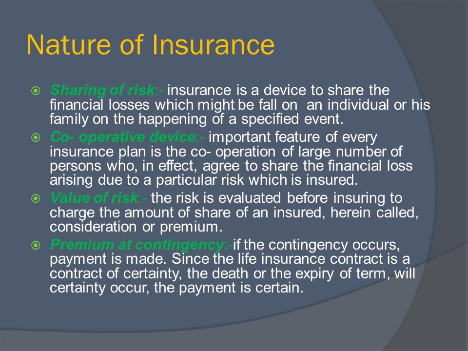 Image result for nature of insurance
