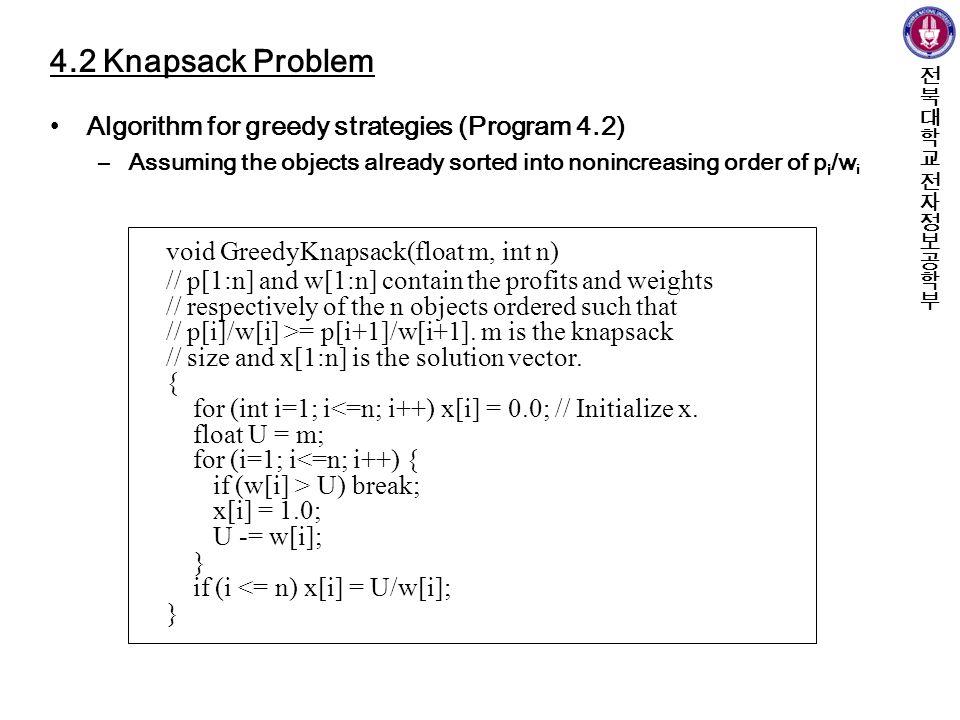 Greedy algorithms.