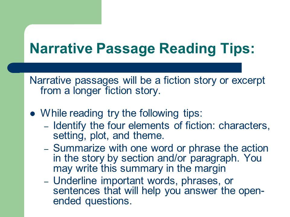 reading paragraph