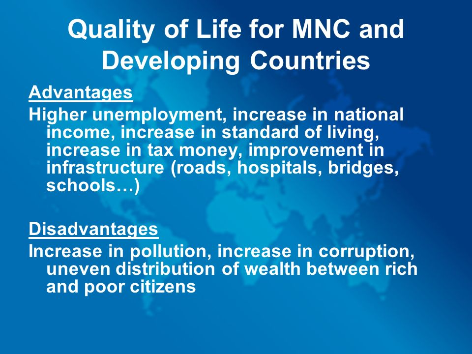 how to improve standard of living in developing countries